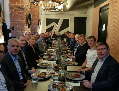 Rail Baltica business network end of year lunch with Keit Kasemets and Anti Moppel